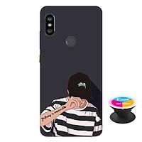 Ốp lưng nhựa dẻo dành cho Xiaomi Redmi Note 6 Pro in hình Nothing Imposible - Tặng Popsocket in logo iCase - Hàng Chính Hãng