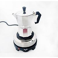 Bộ bếp điện mini pha cà phê và ấm pha cà phê 3 tách 150ml