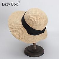 Mũ nón cói đi biển chất liệu raffia dáng cụp mỏ vịt