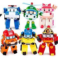 Bộ đồ chơi xếp hình biệt đội 6 máy bay - ô tô biến hình policar robocar poli