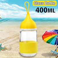 360° Leakproof Portable Rope 301-400ML Glass Bottle For Sports Hiking