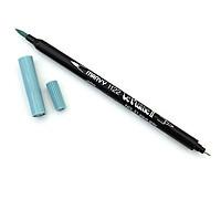 Bút lông hai đầu màu nước Marvy LePlume II 1122 - Brush/ Extra fine tip - Aqua Grey (51)