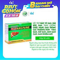 TPCN viên uống BỔ GAN ROBARGININE hỗ trợ bảo vệ gan,làm mát gan,giải độc gan và làm giảm tình trạng mẩn ngứa,nổi mề đai-hộp 90 viên nang mềm