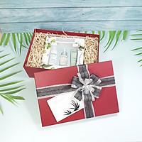 Combo hộp đựng quà đẹp size 30x20x10cm tặng thiệp + giấy rơm lót + túi quà - HQ09
