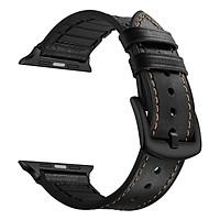 dây da dành cho đồng hồ Apple Watch chất liệu da bò thật cao cấp mẫu 01