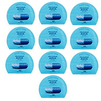 Bộ 10 Mặt Nạ Vita Cocktail Aqua Foil Mask Vita Complex ( màu  xanh )