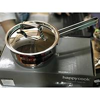 Quánh Đáy Từ Inox 3 Đáy 16cm Happy Cook Sử Dụng Cho Mọi Loại Bếp Dùng Quấy Bột,Nấu Soup,Nấu Cháo Cho Bé-Hàng Chính Hãng
