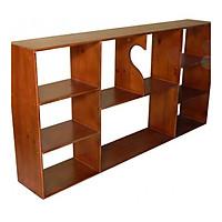 Giá Sách Treo Tường Màu Gỗ Tự Nhiên 1m4 gỗ cao su