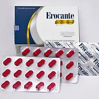 Viên uống Erocante giảm rụng tóc, kích thích mọc tóc, hỗ trợ đen tóc, dùng cho người tóc khô, xơ, dễ gãy, rụng nhiều, người có nguy cơ hói đầu, người khí huyết kém dẫn đến tóc bạc sớm, hộp 90 viên uống trong 45 ngày