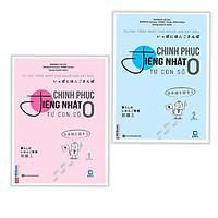 Combo Sách Học Tiếng Nhật: Chinh Phục Tiếng Nhật Từ Con Số 0 - trọn bộ 2 tập (tặng kèm bookmark)