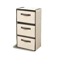 Tủ đựng đồ đa năng mini - DKC - 3 ngăn vải không dệt phong cách Nhật Bản, gấp gọn, thân thiện môi trường