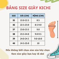 Giày nữ độn đế tăng chiều cao caro Full Box siêu êm chân Giày thể thao đế bằng bánh mì mã 7806 - Kichi Shoes