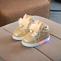 Autumn Children Shoes Girls Fashion LED Lights Soft Casual Sports Walking Toddler Baby Shoes for Kids Size 21-30