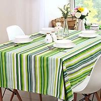 Khăn trải bàn vải bố - Sọc xanh - mẫu P07