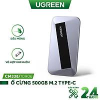 Ổ cứng di động 500GB và 1TB UGREEN CM355 SSD M.2 Type C - Hợp kim nhôm, kèm cáp - Hàng nhập khẩu