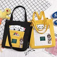 Túi Tote Đeo 2 Kiểu Thời Trang - 3 con mèo