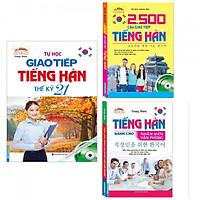 Combo Sách Học Tiếng Hàn: Tự Học Giao Tiếp Tiếng Hàn Thế Kỷ 21 + 2500 Câu Giao Tiếp Tiếng Hàn + Tiếng Hàn Dành Cho Nhân Viên Văn Phòng-Tặng Bookmark PĐ