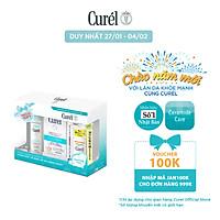 Bộ Đôi Gel Tẩy Trang và Sữa Chống Nắng UV Curel + Tặng Xịt Dưỡng Da Cấp Ẩm Curel