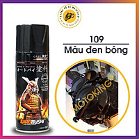 Sơn Samurai Đen Bóng - 109 (400 ml) - chai sơn xịt chuyên dụng cho sơn xe máy, ô tô