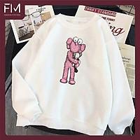 Áo Sweater Thời Trang Nam Nữ Phong Cách Basic In Hoạt Hình Kaws Dễ Thương - FMGV036