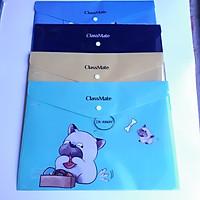 Combo 4 Túi đựng tài liệu Classmate F4/1.5 CB12-PE ( Màu ngẫu nhiên)