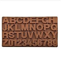 Khuôn silicon dẻo chữ A-Z và số 0-9 loại to dùng đổ socola , kẹo dẻo (màu ngẫu nhiên)…GD401-Khuondeo-chuso