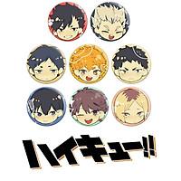 Combo 8 huy hiệu HAIKYUU - VUA BÓNG CHUYỀN anime chibi dễ thương