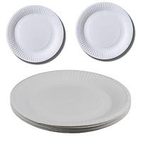 Set 22 đĩa giấy rộng 18cm dùng cho các buổi liên hoan picnic tiện lợi  tặng 2 zipper 10cm