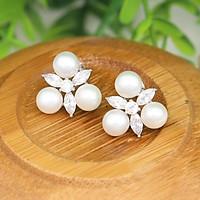 Bông tai ngọc trai tự nhiên cực đẹp B-1506 Bảo Ngọc Jewelry