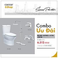 Combo sản phẩm bàn cầu+vòi lavabo+sen tắm+bộ phụ kiện tắm đứng - CD1320+B170CU+S173C+BS126