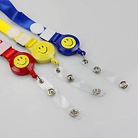 Dây đeo thẻ yoyo mặt cười dạng rút - nhiều màu F362SP2