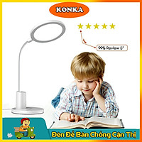 Đèn bàn học Konka chống chói lóa mắt, đèn học để bàn cho bé bảo vệ mắt, đèn học chống cận sạc pin, đèn bàn làm việc thông minh tiện lợi- Hàng chính hãng