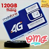 Sim 4g mobifone đăng ký gói thaga100 vào mạng 120G một tháng, 4Gb một ngày tốc độ cao