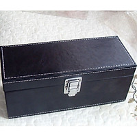 New Storage Box Case Black PU Leather for 20PCS PCGS NGC Slabs Coin Holders