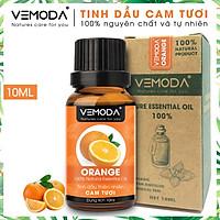 Tinh dầu Cam tươi cao cấp. Orange Essential Oil 10ml. Tinh dầu xông phòng giúp khử mùi, kháng khuẩn, thanh lọc không khí, xua đuổi côn trùng, giảm căng thẳng, cân bằng cảm xúc. Tinh dầu thơm phòng cao cấp Vemoda