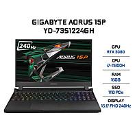 Laptop Gigabyte AORUS 15P YD-73S1224GH (Core i7-11800H/ 16GB (8x2) DDR4 3200MHz/ 1TB SSD M.2 PCIE G3X4/ RTX 3080 8GB GDDR6/ 15.6 FHD IPS, 240Hz/ Win10) - Hàng Chính Hãng