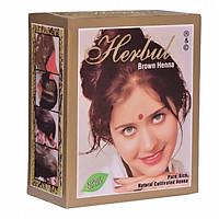 Thuốc nhuộm tóc thảo dược màu nâu Herbul Brown Henna