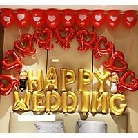 Set bóng trang trí phòng cưới đẹp kèm cô dâu chú rể
