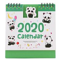 Lịch Để Bàn 2020 (15 x 16cm) - Hình Gấu Trúc