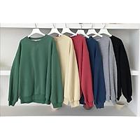 Áo Sweater Unisex Hàn Quốc form rộng chất xịn mặc thoáng mát