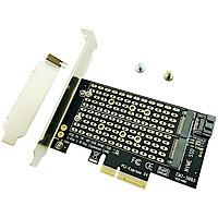 Adapter gắn SSD M.2 NVMe và M.2 SATA cho máy tính để bàn