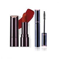 Bộ đôi VDIVOV Son lì Lip Cut Rouge Velvet RD308 ROSE CUT 3.8g và Eye Cut Mascara 02 Long & Volume 8g