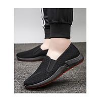 Giày Lười Slip-On Nam Vải Mềm Khoét Lỗ Êm Thiết Kế Nam Tính - 3156 - Mới