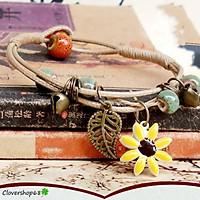 Vòng đeo tay hạt gốm hoa cúc cực xinh