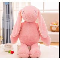 Gấu bông Thỏ tai dài đứng dễ thương 48cm màu hồng nhạt