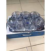 Bộ 6 cốc thủy tinh hoa sen xanh