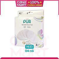 Miếng lót thấm sữa bằng vải, giặt được Pur (hộp 4 miếng) (9833)