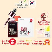 Bộ Serum Da Mụn Dưỡng Da Cấp Ẩm Cho Mặt Red Peel Premium 20ml Và Red Mask PH.5.5 30ml So Natural