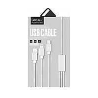 Cáp sạc 3 đầu Lecun GS-13 (Lightning, Micro USB, Type C) siêu bền, dài 1.2m - Hàng chính hãng