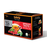 Trà SAVO Phúc Bồn Tử (Rasberry Tea) - Hộp 25 Gói x 2g